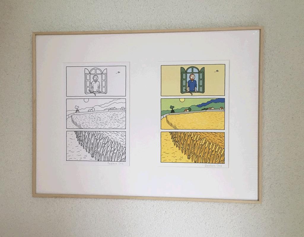 originele pagina plus print uit Vincent