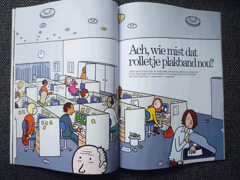 illustratie voor Psychologie Magazine