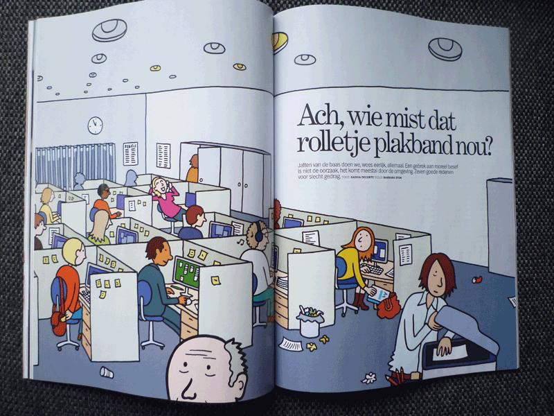 illustratie voor Psychologie Magazine